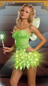 Tinkerbell Halloween Costume Adults Straps Bras Halloween Costumes Exposed Envy
