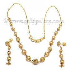 yellow gold necklace sets images Yellow gold ball necklace set gold jewelry gold palace jewelers jpg