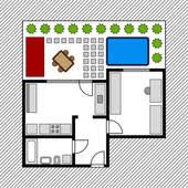 house layout clipart clipart of vector house floor plan with garden k8697825 search