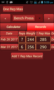Calculate Your Max Bench One Rep Max Calculator Android Apps On Google Play