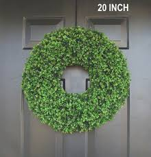 realistic artificial boxwood wreath 14 to 30 inch sizes