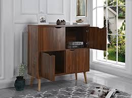 mid century storage cabinet amazon com mid century modern 4 cupboard doors entryway home