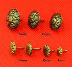 Tacks Upholstery 8 Size 7mm 23mm Bronze Color Push Pins Upholstery Tacks Nails