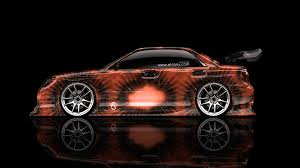 orange subaru wrx subaru impreza wrx sti jdm side kiwi aerography car 2014 el tony