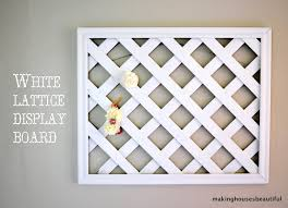 white lattice display board gardens bulletin boards and nurseries