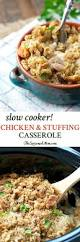 slow cooker chicken and stuffing casserole the seasoned mom