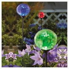 Crackle Globe Solar Lights by Outdoor Solar Crackle Ball Stakelight Threshold Target