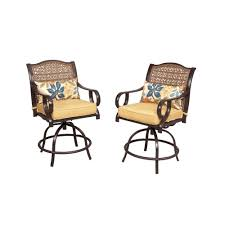 Hampton Bay Patio Dining Set - hampton bay vichy springs patio high dining chairs 2 pack