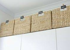 IHeart Organizing Tutorial For Filling In Gab Above Cabinets - Above kitchen cabinet storage