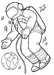 astronaut coloring pages kids coloring free kids coloring