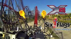six flags magic mountain x2 roller coaster pov six flags magic mountain youtube