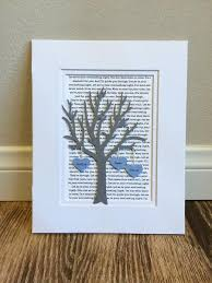 paper anniversary gift personalized 1st year anniversary gift tree paper anniversary
