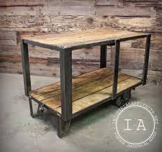 Industrial Kitchen Cart by Vintage Industrial Ca 1950 U0027s Factory Cart Kitchen Island Console