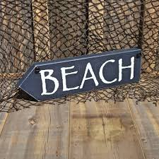 beach signs home decor beach arrow nautical wood sign