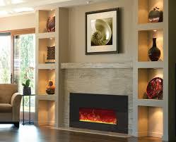 amantii 26 electric fireplace insert black glass surround rakish flames