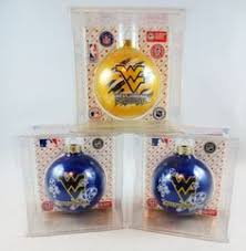 west virginia set of 12 plastic ornaments for