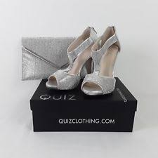 wedding shoes quiz silver quiz wedding bundle shoes size 5 fascinator clutch bag ebay