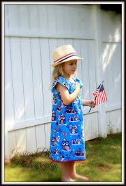 little girls peasant dress patriotic owl dress red white