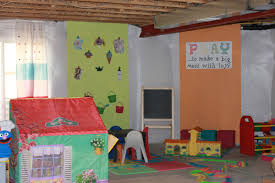 extremely creative unfinished basement playroom ideas fresh design