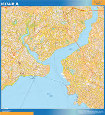 Map Of Istanbul Our Istanbul Wall Map Wall Maps Mapmakers Offers Poster