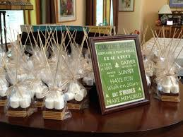 40th wedding anniversary party ideas wedding party favors party favors set up at the bridal