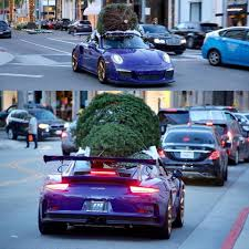 porsche blue gt3 porsche 911 gt3 rs hauling a christmas tree becomes ultraviolet