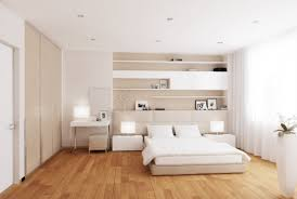 White Shelves For Bedroom Home Ideas Spacious Modern White Cream Bedroom With Minimalist