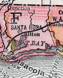 Florida County Maps by Santa Rosa Florida County Maps Stock Vector Art 182245334 Istock
