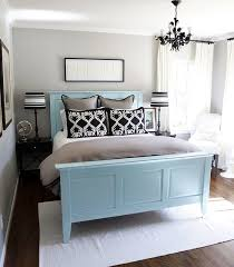 Blue Bed Frame Painted Wooden Bed Frame Chairs Ovens Ideas