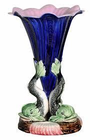 Dolphin Vase Thomas Forester Majolica International Society