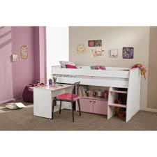 lit enfant combiné bureau lit enfant combiné pin lasuré blanc et achat vente lit