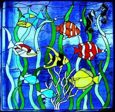stained glass supplies l bases stained glass ocean fish seashells and marine animals stained