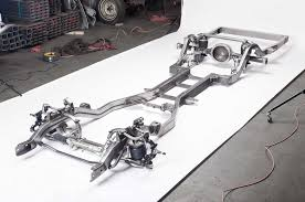 car suspension a classsic car on a rodded out chassis and suspension