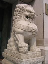 lion statue guard photo