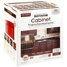 restore cabinet finish home depot rust oleum transformations dark color cabinet kit 9 piece 258240