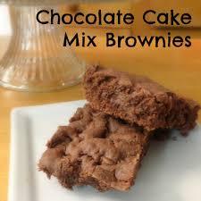 chocolate chocolate chip cake mix brownies the pintertest kitchen