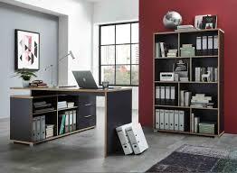 Schreibtisch Mit Computer Bürokombination In Anthrazit Hochwertige Abs Kanten