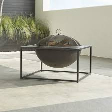 Large Firepit Carswell Large Pit In Decor Reviews Crate And Barrel
