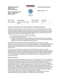 monthly health and safety report template j mcginty nebosh certificate in occupational health safety