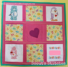joy care bear baby quilts twins