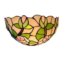 Stained Glass Wall Sconce 8 Simple Style Stained Glass Wall Sconce Single