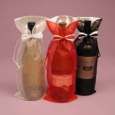 wine bottle bows wine bags