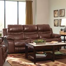 Catnapper Leather Reclining Sofa Patton Leather Power Lay Flat Reclining Sofa In Walnut 64241 1283