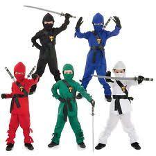 Ninja Halloween Costume Boys Underwraps Ninja Costumes Boys Ebay