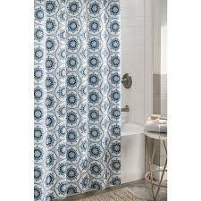 allen roth polyester patterned shower curtain