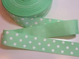 offray ribbon polka dot ribbon mint green and white polka dot grosgrain ribbon 1