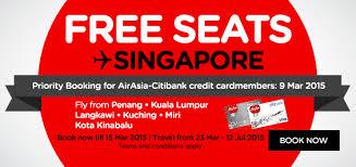 airasia singapore promo airasia free seat promotion freebies land malaysia