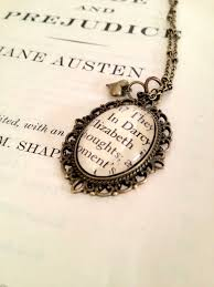 sted necklaces elizabeth and mr darcy pride and prejudice book page necklace on