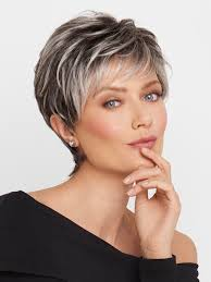 dark hair with grey streaks gray wigs all shades of grey wigs com the wig experts