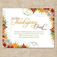 thanksgiving invitation card for dinner with